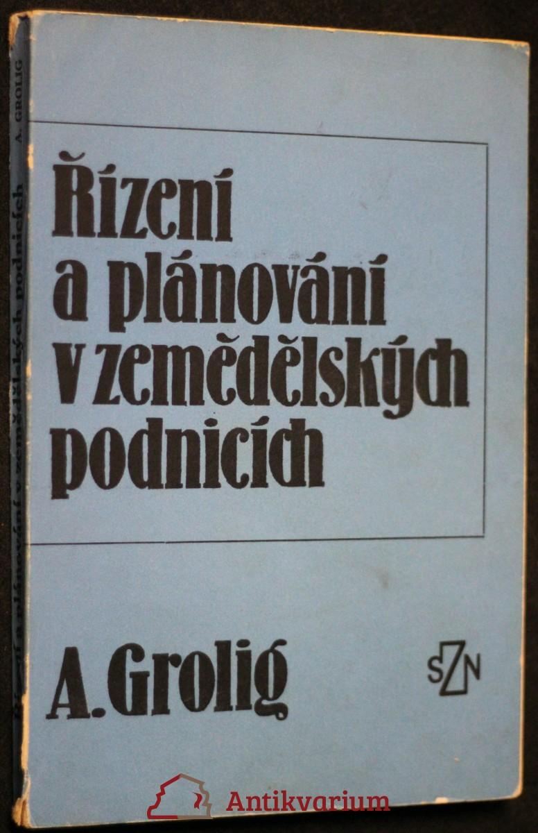 antikvární kniha Řízení a plánování v zemědělských podnicích, 1974