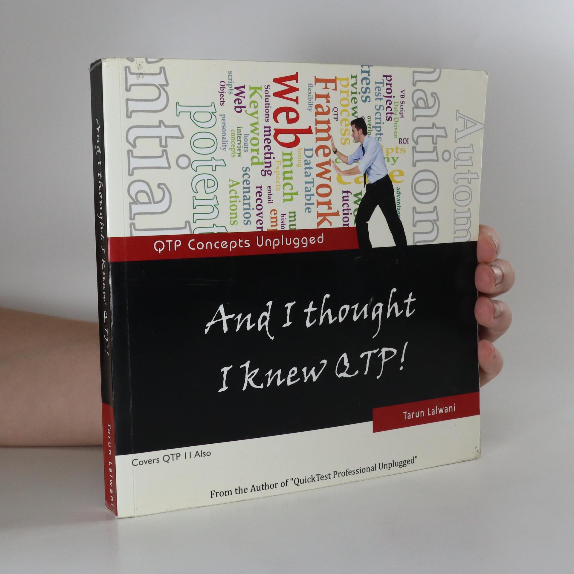 antikvární kniha And I Thought I Knew QTP!, 2011