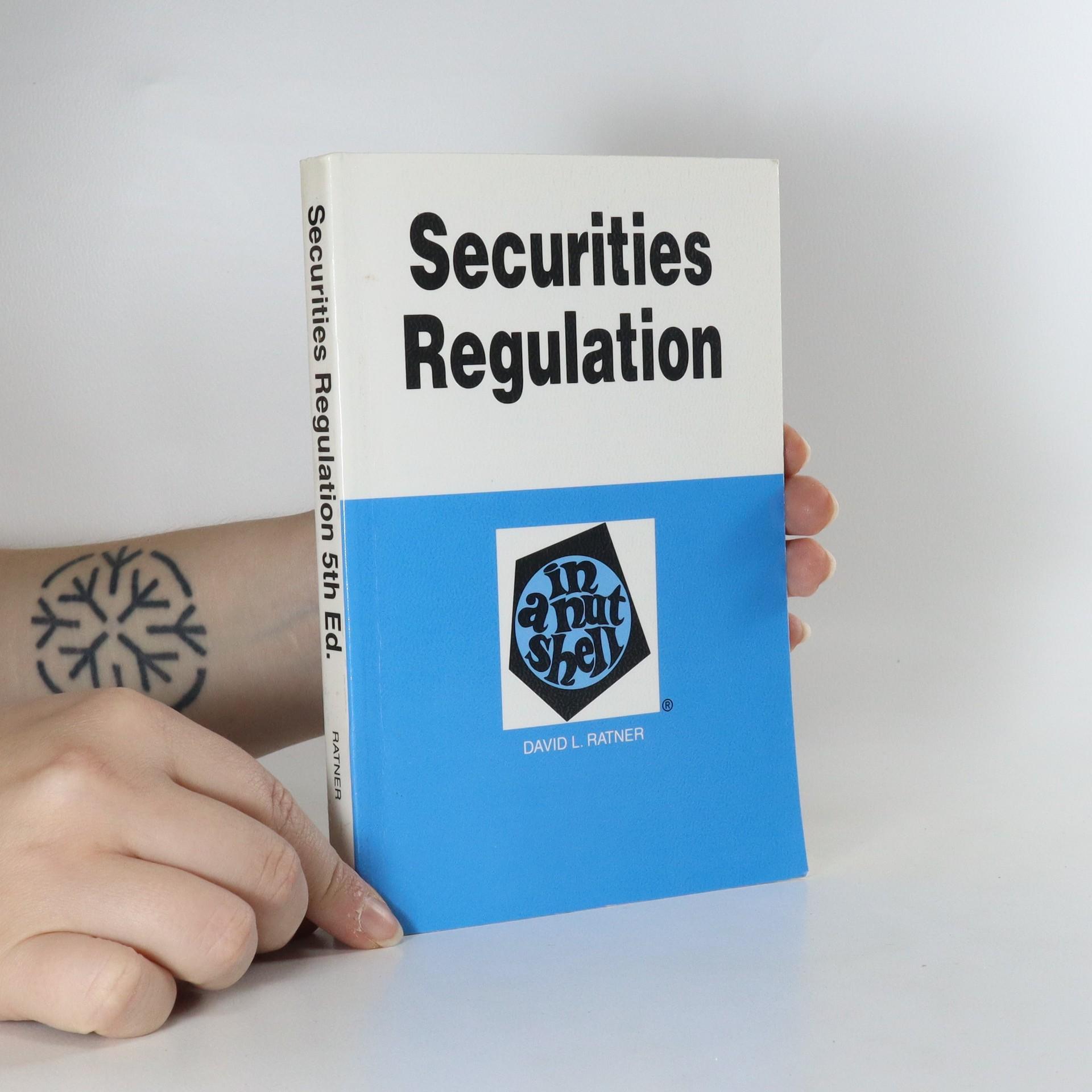 antikvární kniha Securities Regulation, neuveden