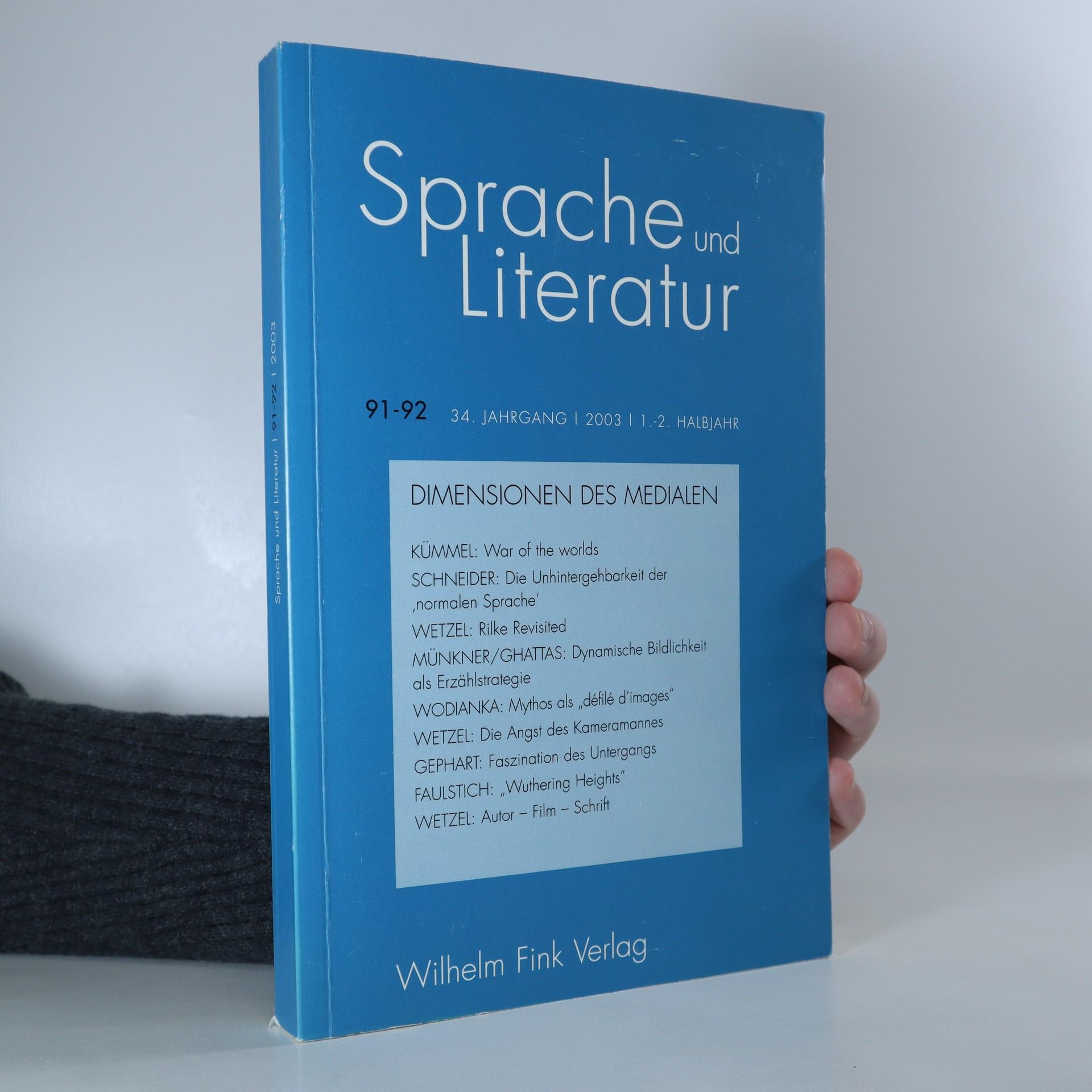 antikvární kniha Sprache und Literatur, 2003