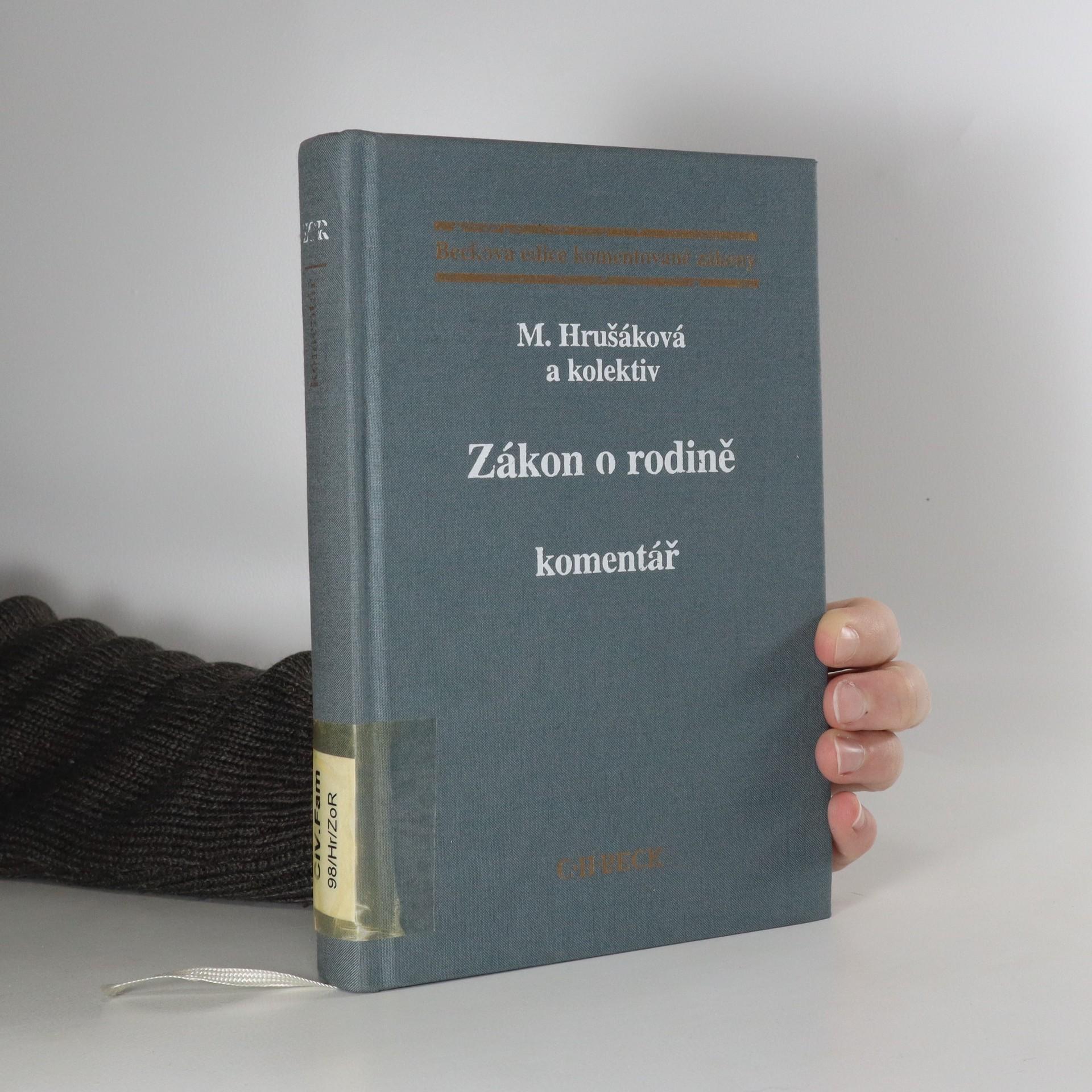 antikvární kniha Zákon o rodině : komentář, 1998