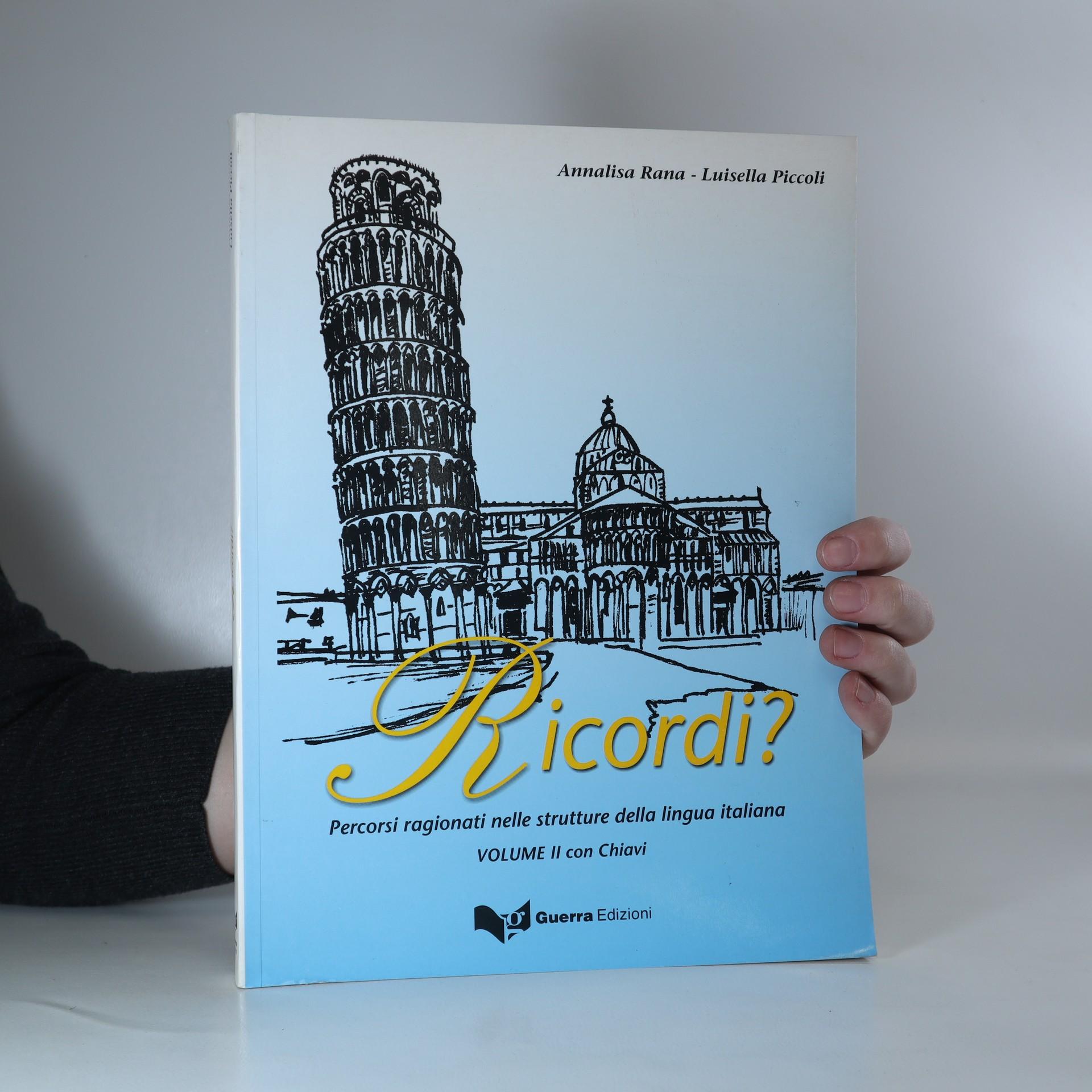 antikvární kniha Ricordi? : percorsi ragionati nelle strutture della lingua italiana, 2003