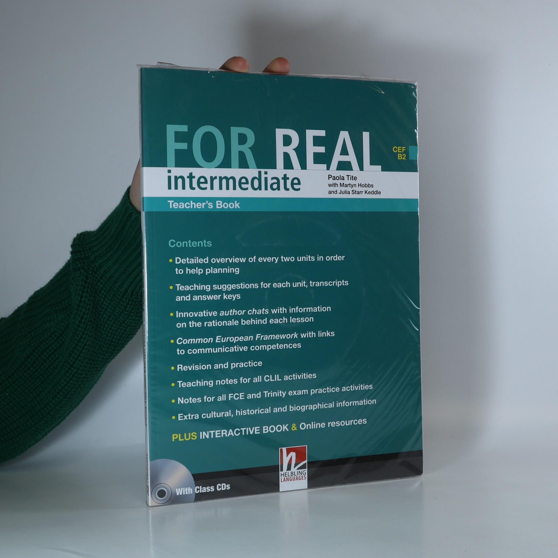 antikvární kniha For Real. Intermediate. Teacher's book, neuveden
