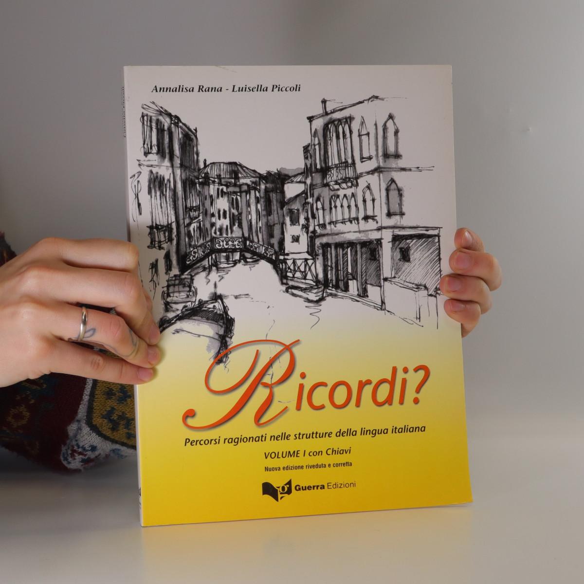 antikvární kniha Ricordi?  :  percorsi ragionati nelle strutture della lingua italiana : volume 1 con chiavi., 2004