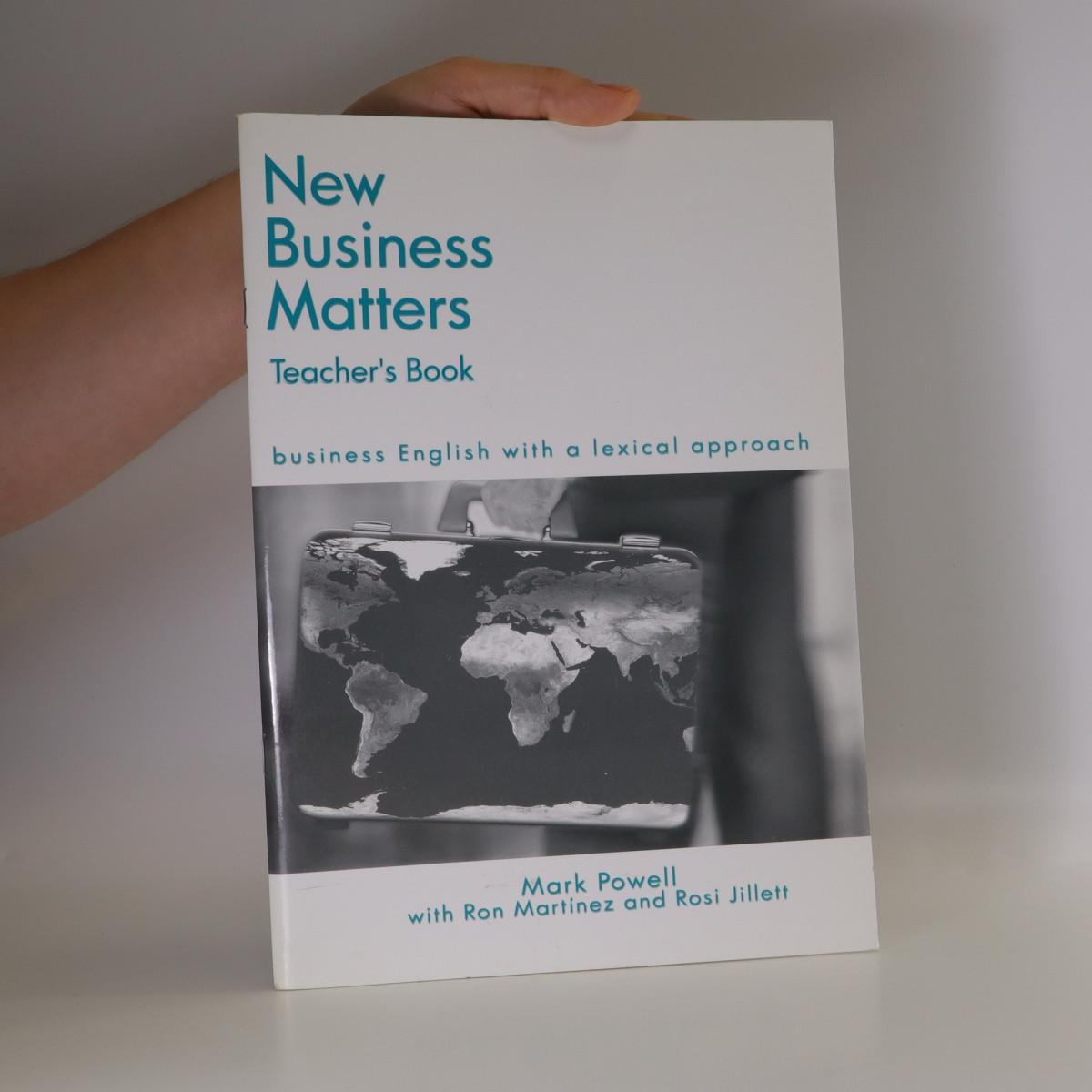antikvární kniha New business matters. Business English with a lexical approach. Teacher's book, neuveden