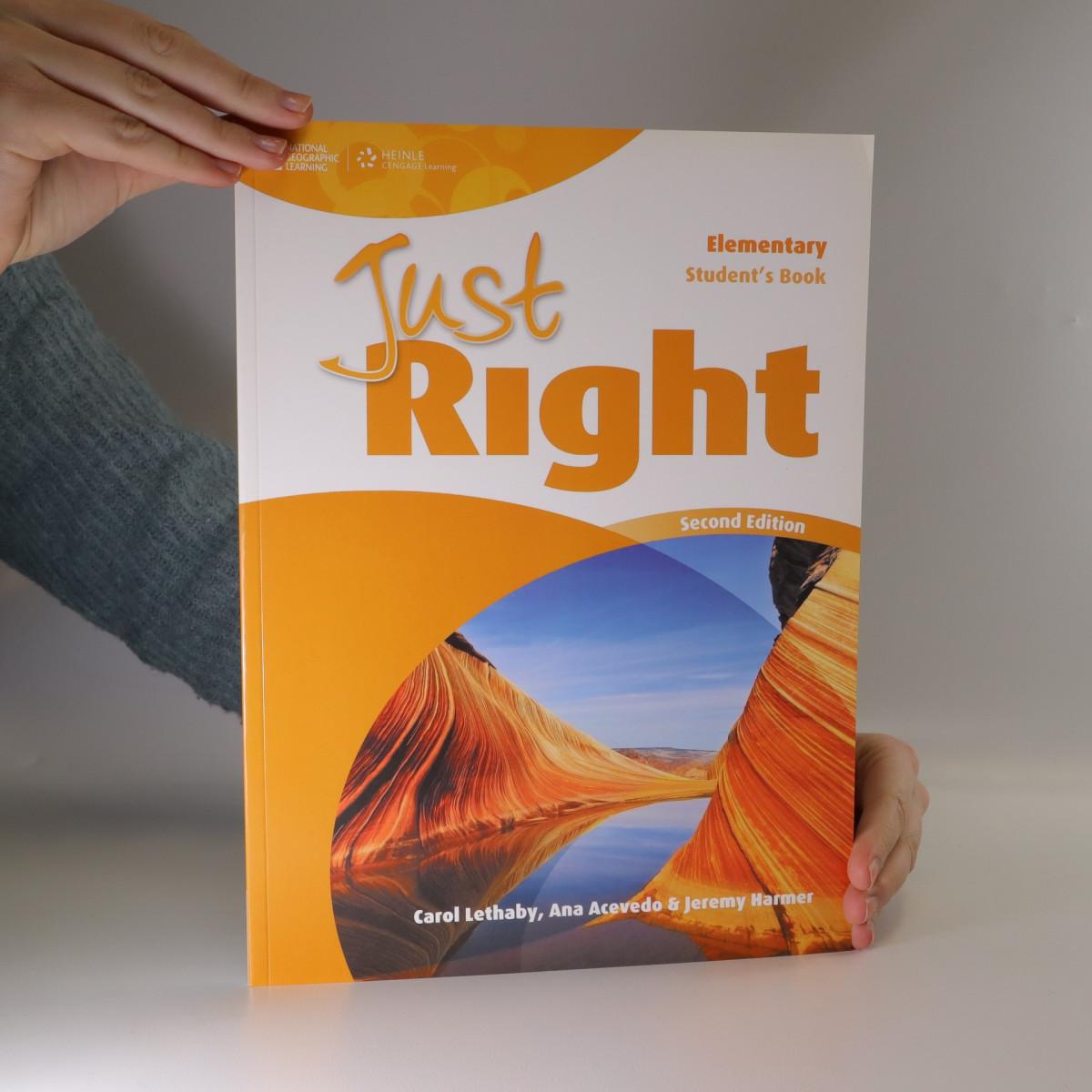 antikvární kniha Just right : Elementary. Student's book, neuveden