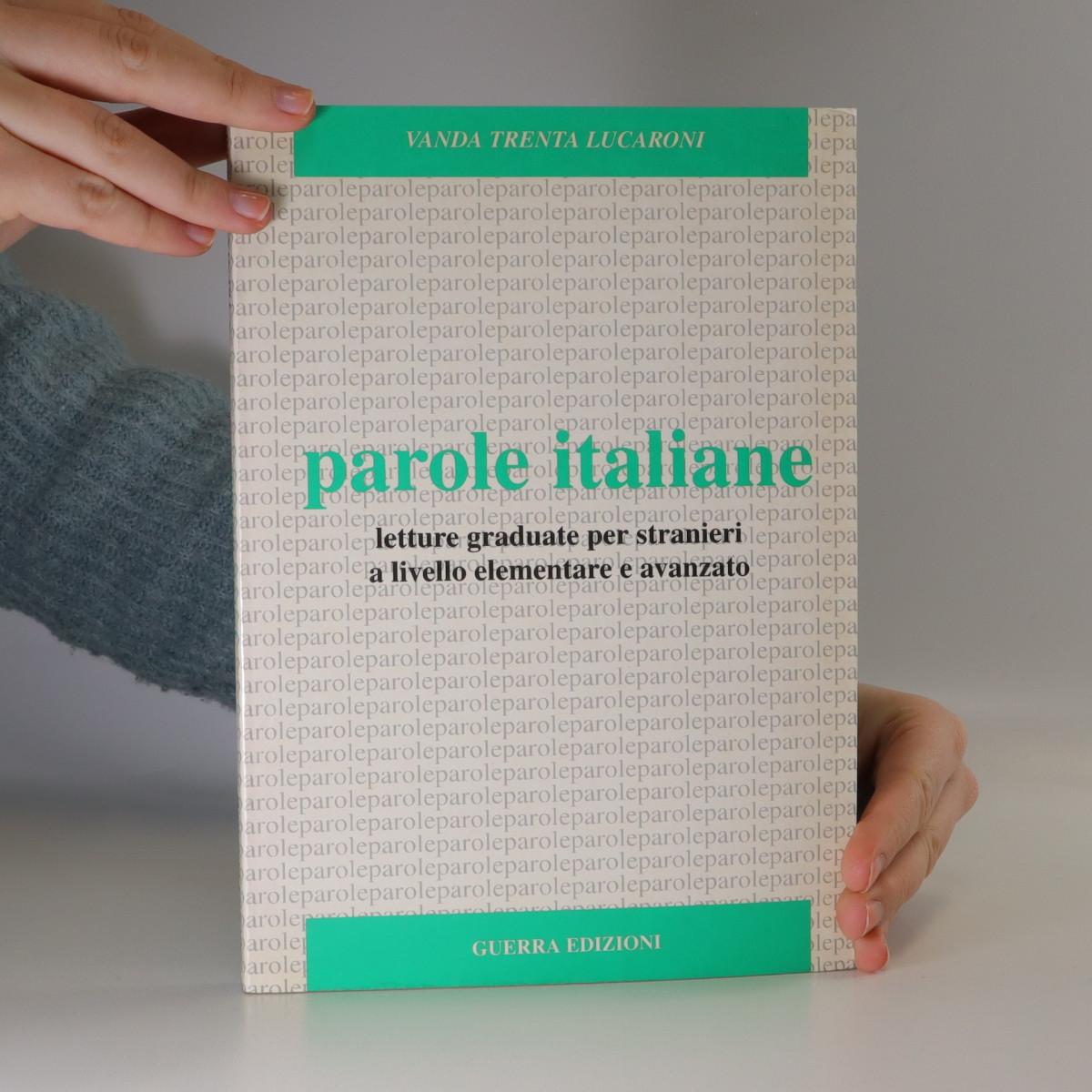 antikvární kniha Parole italiane, neuveden