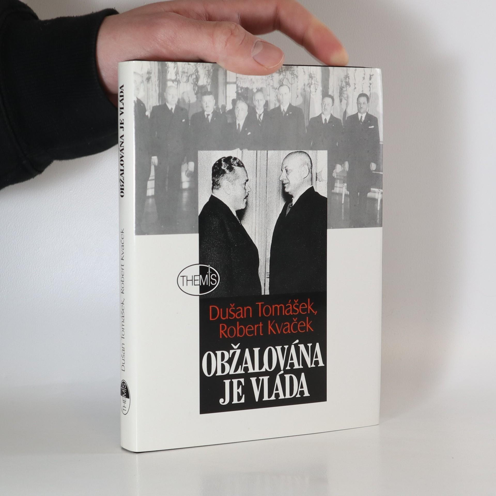 antikvární kniha Obžalována je vláda, 1999