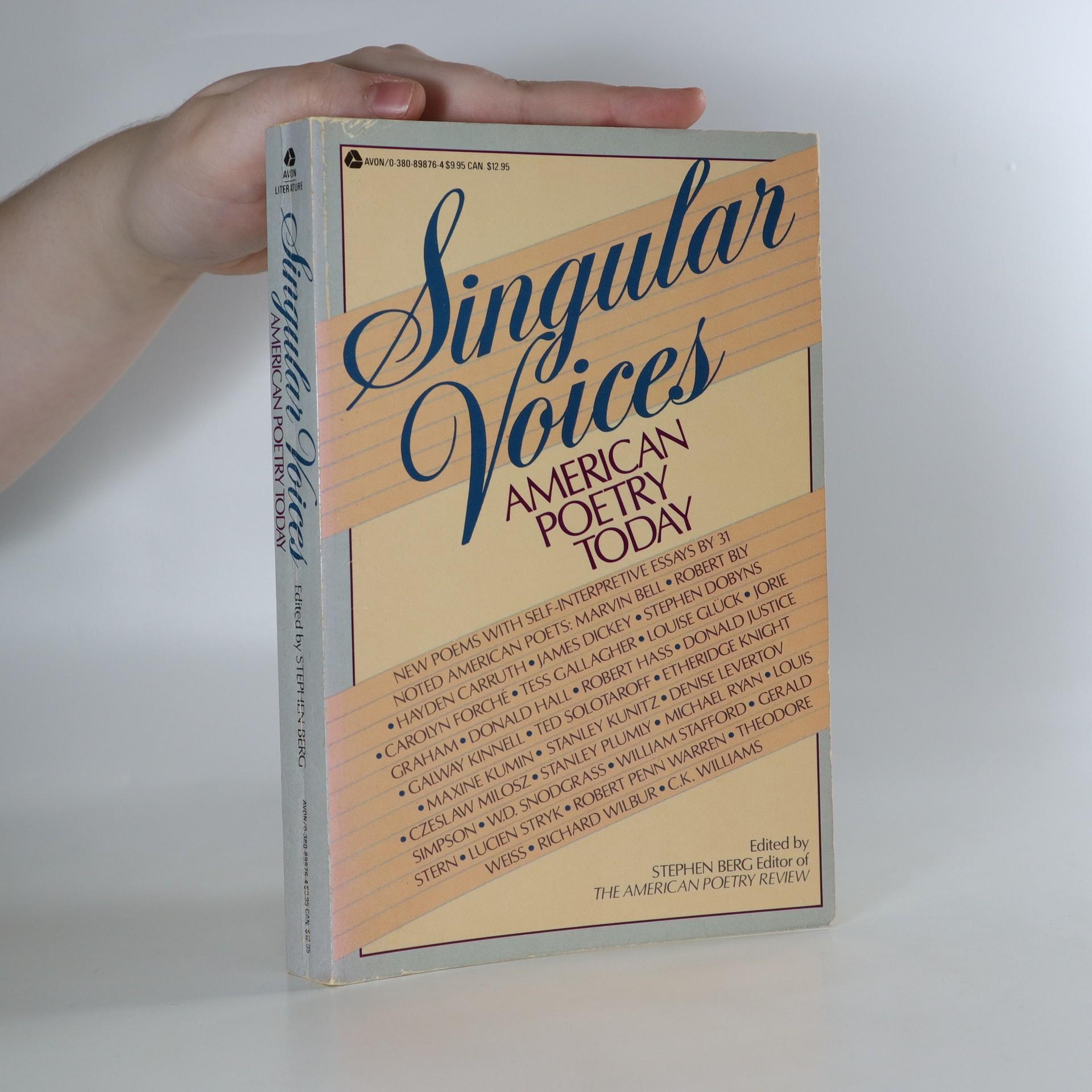 antikvární kniha Singular Voices, 1985