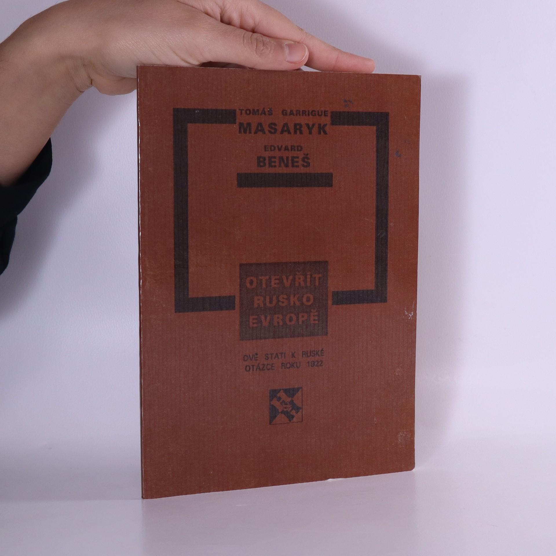 antikvární kniha Otevřít Rusko Evropě, 1992