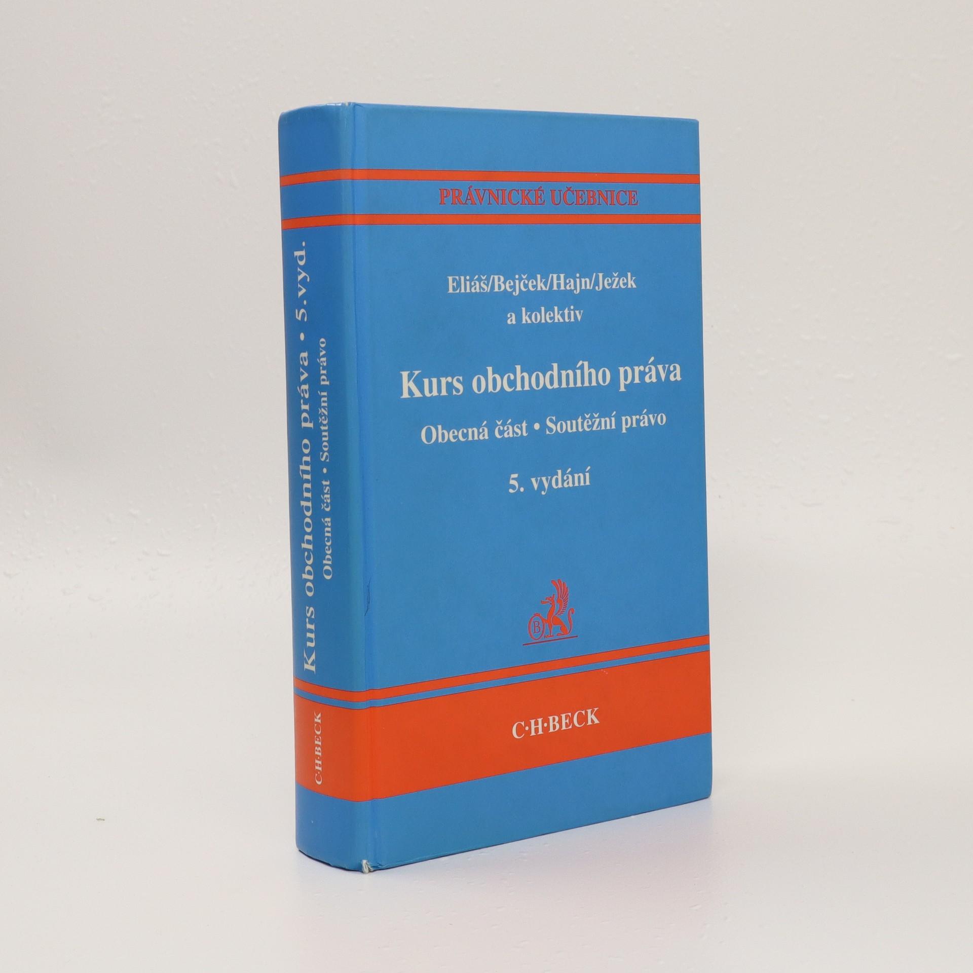 antikvární kniha Kurs obchodního práva. Obecná část, Soutěžní právo, 2007