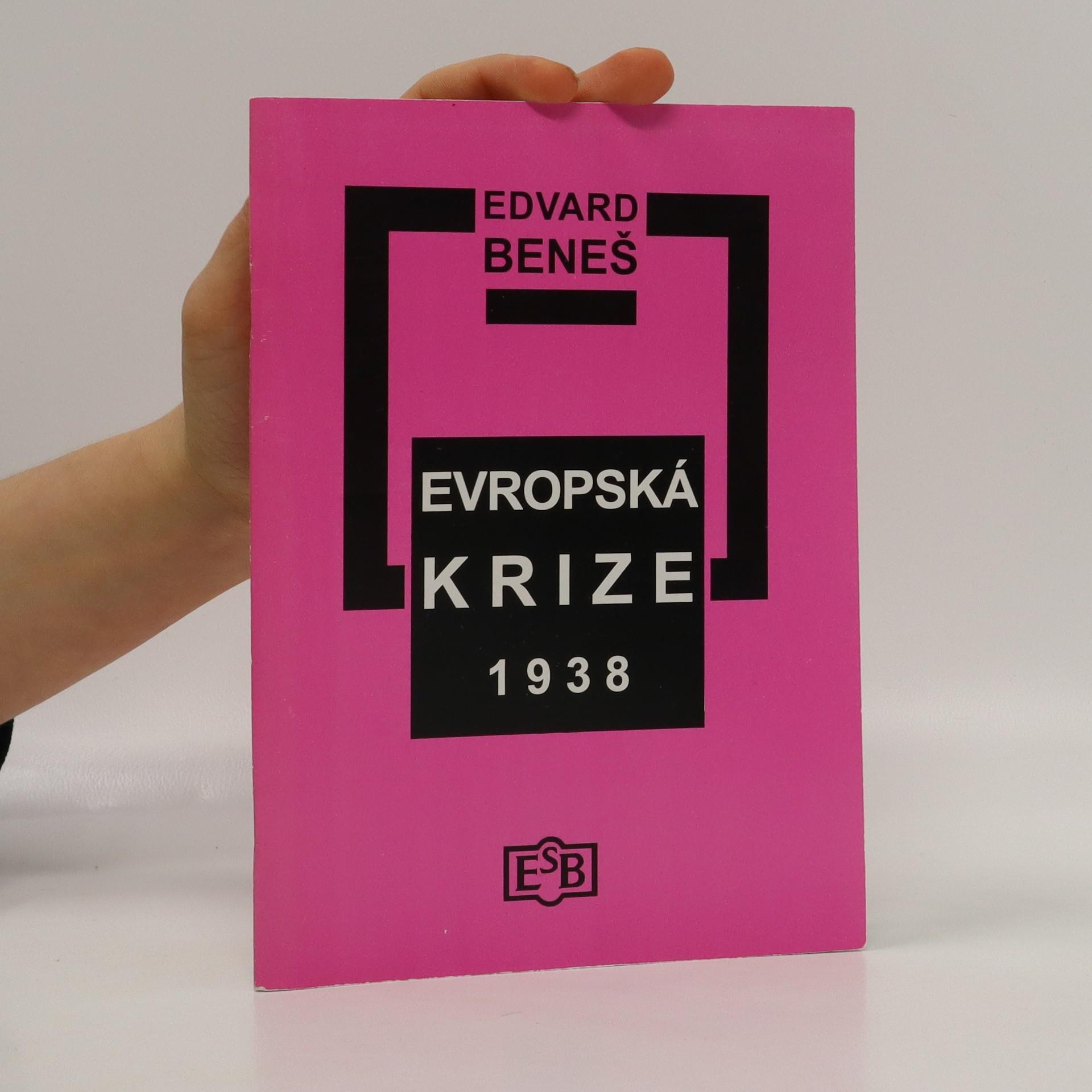 antikvární kniha Evropská krize 1938: Pět projevů, 2008