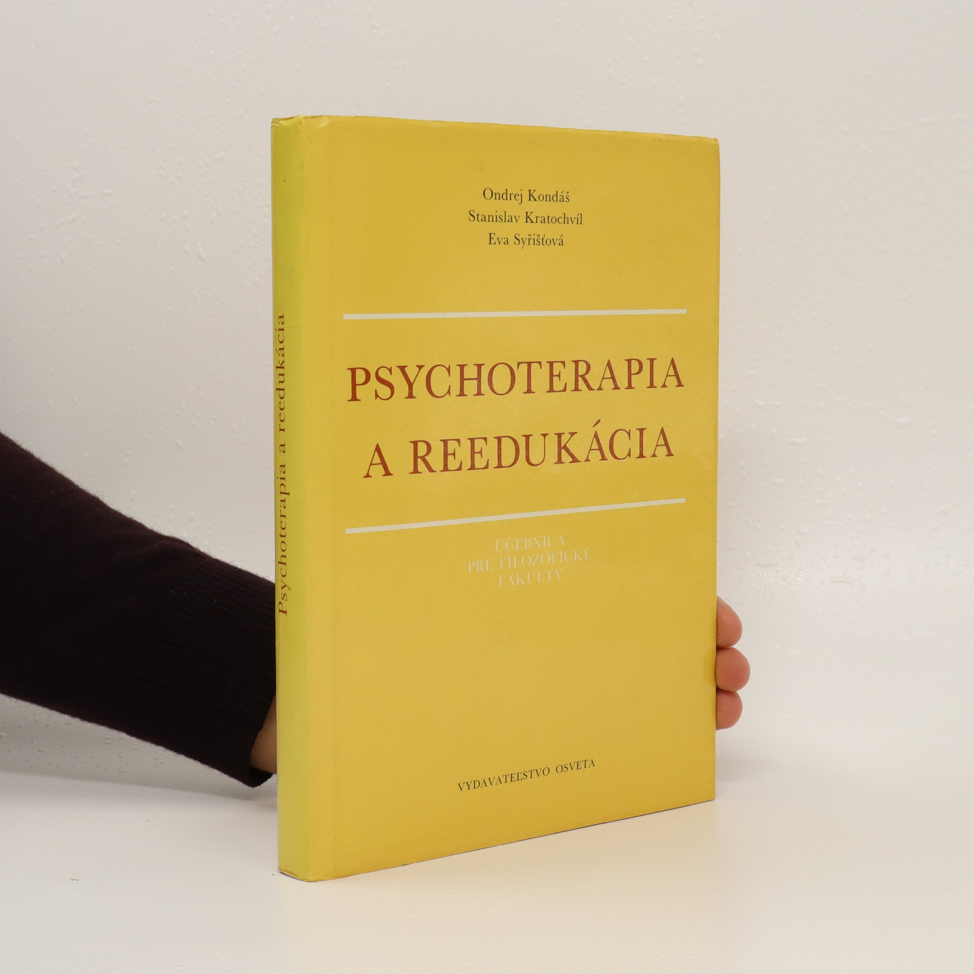antikvární kniha Psychoterapia a reedukácia : učebnica pre filozofické fakulty, 1989
