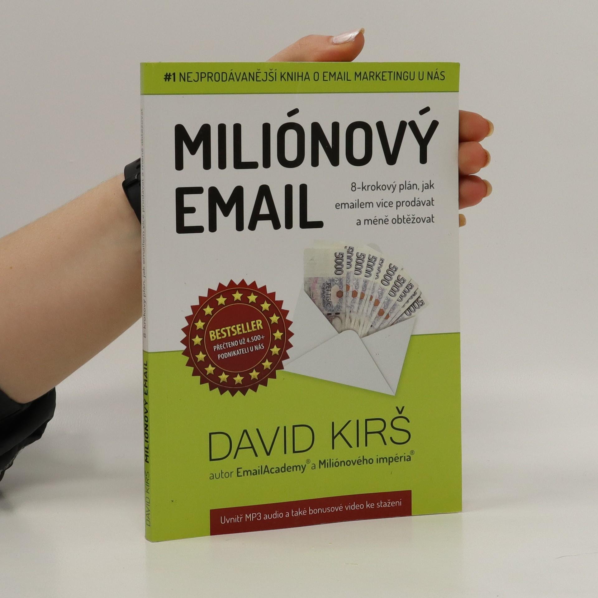 antikvární kniha Miliónový email, neuveden