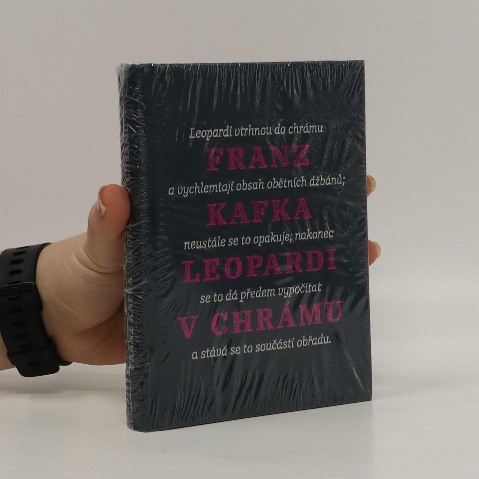 antikvární kniha Leopardi v chrámu : myšlenky o sobě i o jiném, 2013