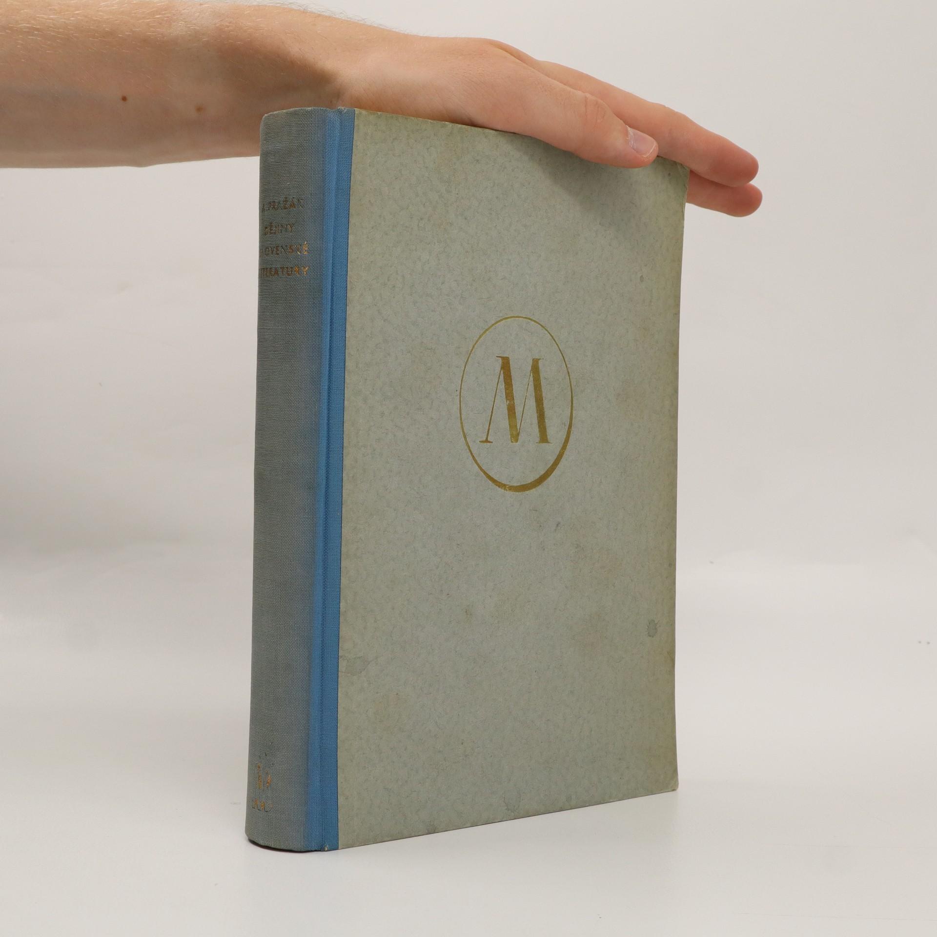 antikvární kniha Dějiny slovenské literatury, 1950