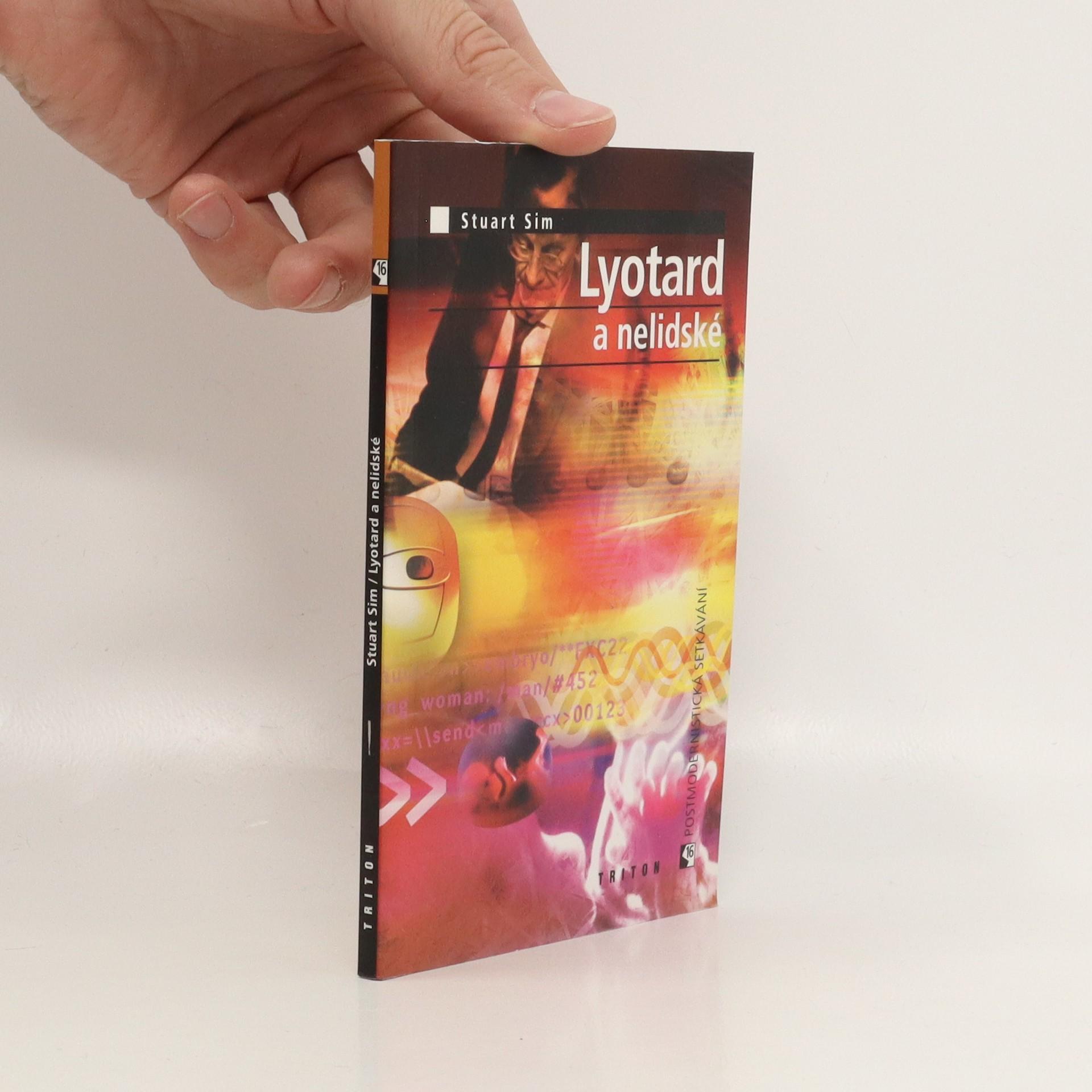 antikvární kniha Lyotard a nelidské, 2003
