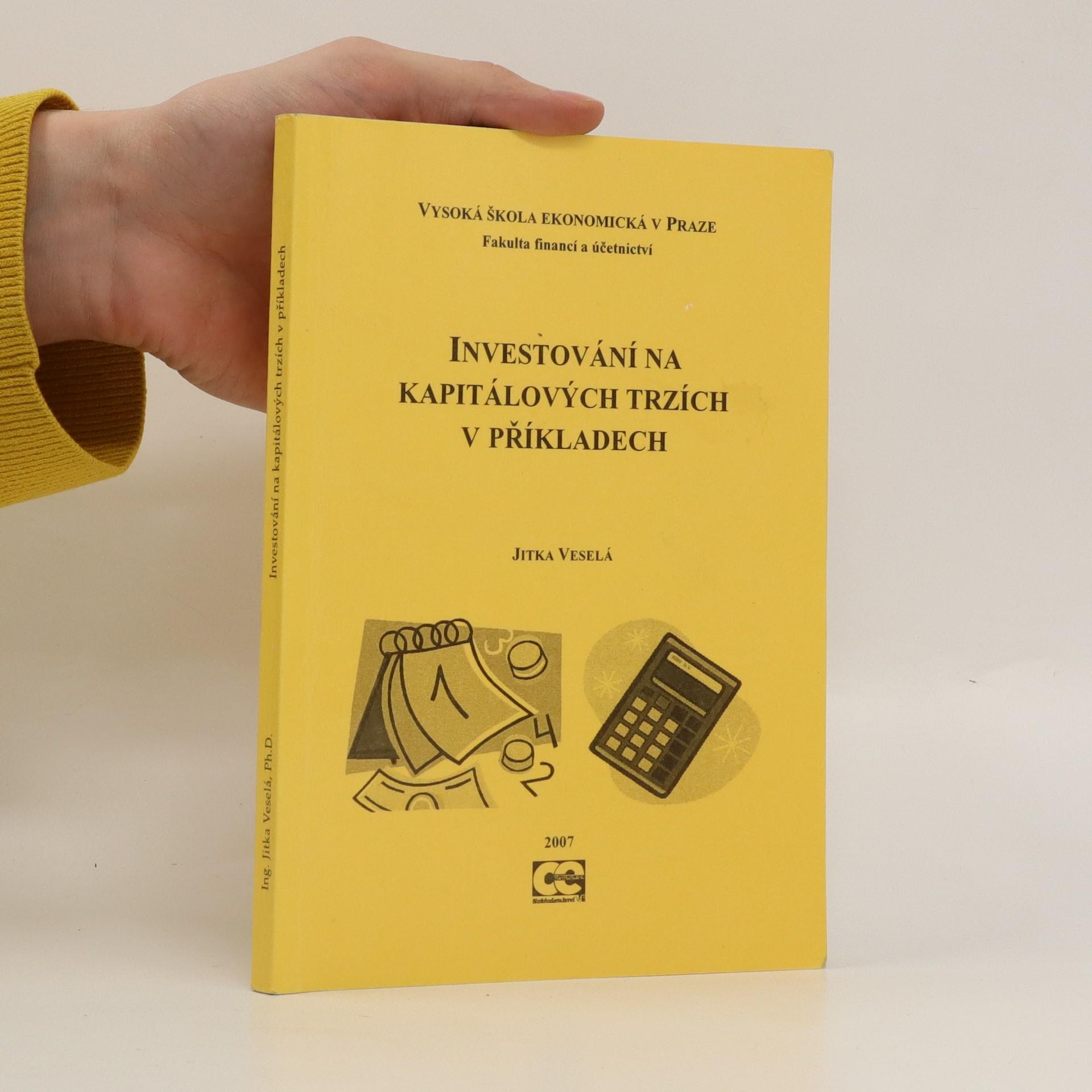antikvární kniha Investování na kapitálových trzích v příkladech, 2007