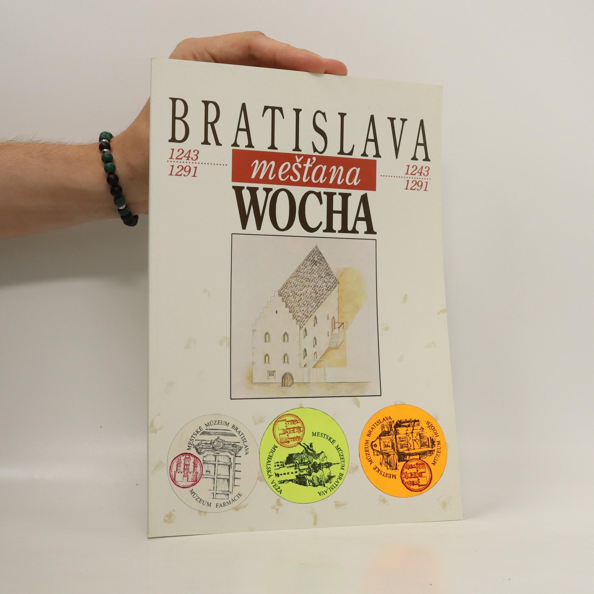 antikvární kniha Bratislava mešťana Wocha 1242-1291, 1991