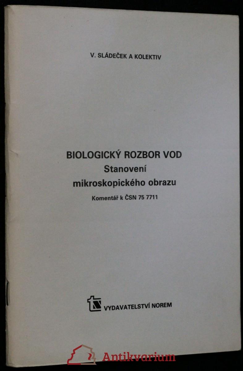 antikvární kniha Biologický rozbor vod : stanovení mikroskopického obrazu : komentář k ČSN 75 7711, 1989