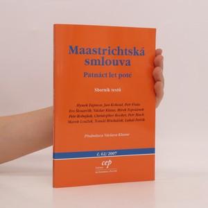 náhled knihy - Maastrichtská smlouva. Patnáct let poté
