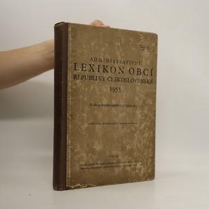 náhled knihy - Administrativní lexikon obcí republiky československé 1955