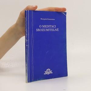 náhled knihy - O meditaci srozumitelně