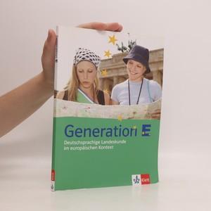 náhled knihy - Generation E : deutschsprachige Landeskunde im europäischen Kontext