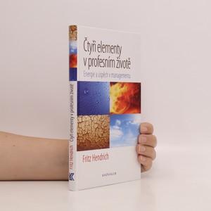 náhled knihy - Čtyři elementy v profesním životě : energie a úspěch v managementu