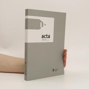 náhled knihy - Acta Fakulty filozofické Západočeské univerzity v Plzni