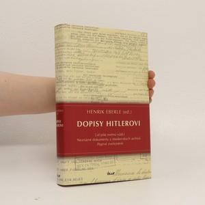 náhled knihy - Dopisy Hitlerovi