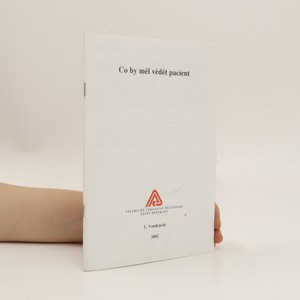náhled knihy - Co by měl vědet pacient