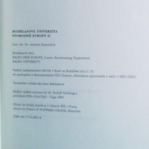 antikvární kniha Rozhlasová univerzita Svobodné Evropy. II. díl, Humanitní vědy. Část druhá, 1994