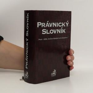 náhled knihy - Právnický slovník