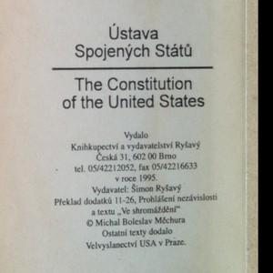 antikvární kniha Ústava Spojených Států - The Constitution of the United States, 1995