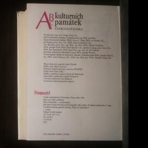 antikvární kniha ABC kulturních památek Československa, 1985