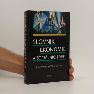 náhled knihy - Slovník ekonomie a sociálních věd