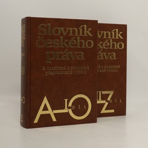 náhled knihy - Slovník českého práva A-Z (2 svazky)