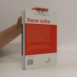 antikvární kniha Dimenze myšlení, 1999