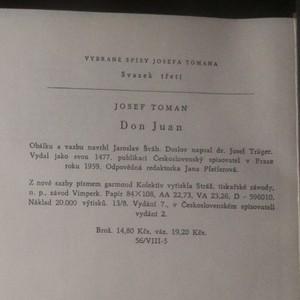 antikvární kniha Don Juan, 1959