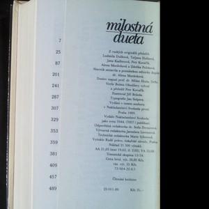 antikvární kniha Milostná dueta, 1989