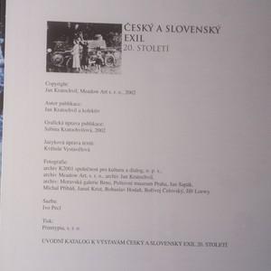 antikvární kniha Český a slovenský exil 20. století, 2002