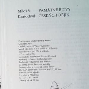 antikvární kniha Památné bitvy českých dějin, 1987