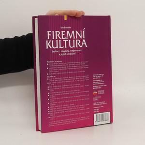 antikvární kniha Firemní kultura : jedinci, skupiny, organizace a jejich chování, 2003
