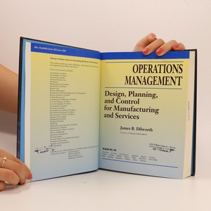 antikvární kniha Operations management : design, planning, and control for manufacturing and services, 1992