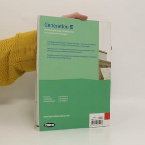 antikvární kniha Generation E : deutschsprachige Landeskunde im europäischen Kontext, 2005