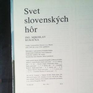 antikvární kniha Svet slovenských hôr, 1980