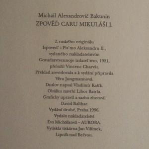 antikvární kniha Zpověď caru Mikuláši I., 1996