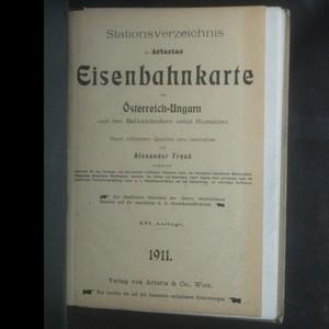 antikvární kniha Artarias Eisenbahnkarte von Österreich-Ungarn und den Balkanländern, 1911