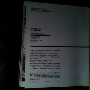 antikvární kniha Vysoké Tatry (slovensky), 1975
